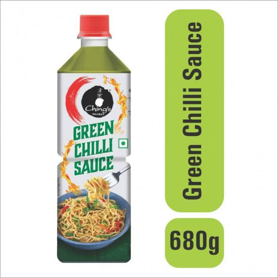 Chings Green Chilli Sauce Plastic Bottle 680gm
