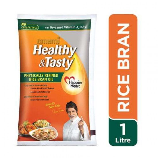 Rice Bran Oil (Emami) 1Ltr. Pouch